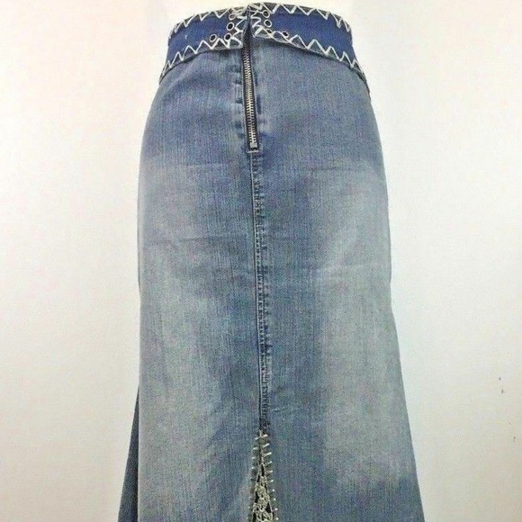 Crest Dresses & Skirts - Crest Jeans SZ 20 Denim Skirt Vintage Boho Hippie